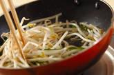 モヤシのソース卵とじの作り方4