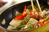 牛肉と野菜のソース炒めの作り方2