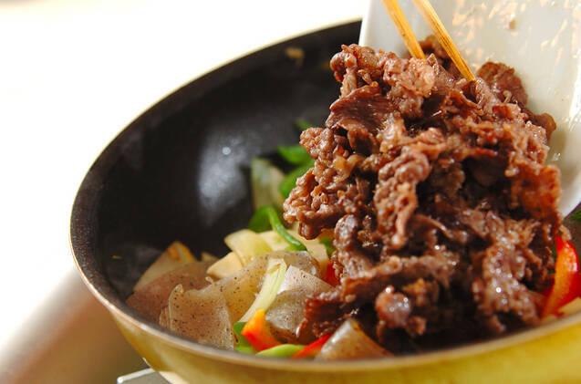 牛肉と野菜のソース炒めの作り方の手順10