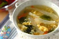 セロリと卵のスープ