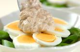 卵とエンドウのツナマヨ焼きの作り方2