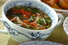 野菜たっぷりトマトのスープ