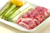 豚バラ肉のシンプル塩焼きの下準備1