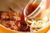ソース牛丼の作り方の手順2