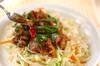 ラム肉のピリ辛炒めの作り方の手順4