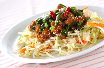 ラム肉のピリ辛炒め