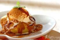 レンジリンゴのデザート