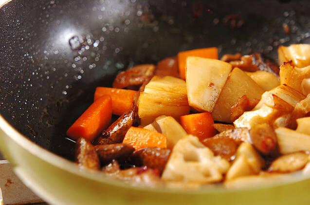 豚肉と根菜のきんぴらの作り方の手順5