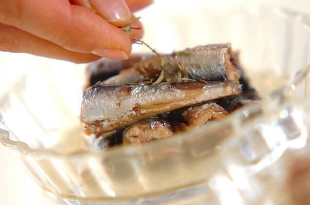 オイルサーディンのハーブチーズ焼きの作り方の手順2