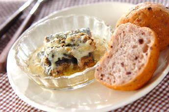 オイルサーディンのハーブチーズ焼き
