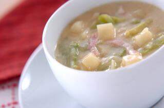 とろみ豆乳みそスープ
