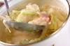 とろみ豆乳みそスープの作り方の手順4