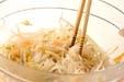 モヤシの甘酢和えの下準備6