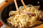 夏野菜焼きうどんの作り方2