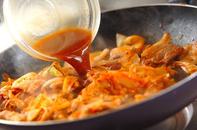 豚みそキムチ丼の作り方の手順6