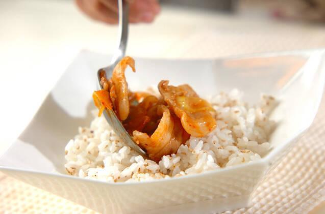 豚みそキムチ丼の作り方の手順7