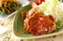 漬け豚肉のショウガ焼き