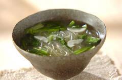 春雨と小松菜スープ