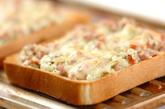 オニオンソーセージトーストの作り方1