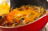 焼き鳥のモヤシ卵とじの作り方3