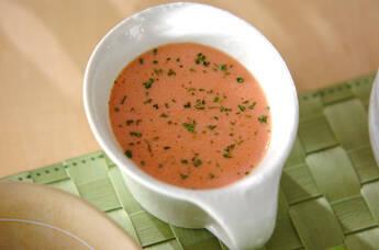トマトの冷スープ