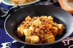 豆腐とひき肉のピリ辛炒め