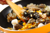 シーフード炊き込みご飯の作り方2