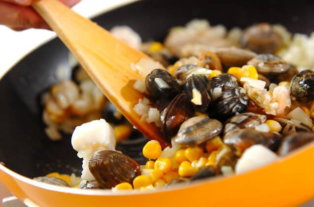 シーフード炊き込みご飯の作り方の手順2