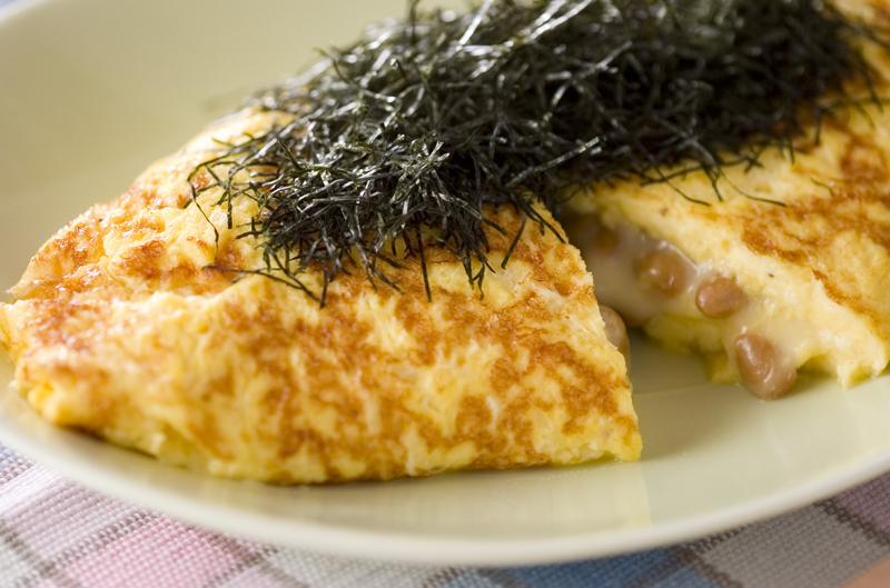 1. 納豆オムレツ