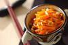 ニンジンのガーリック甘酢和えの作り方の手順