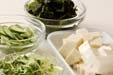 豆腐サラダの下準備1