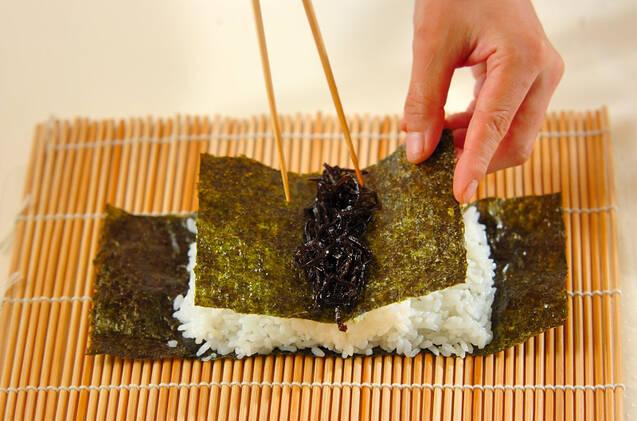 コアラちゃんデコ巻き寿司の作り方の手順6