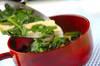 菊菜のみそ汁の作り方の手順4