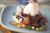 豚バラ肉の七味焼き