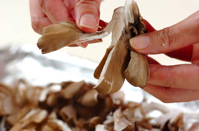 マイタケのベーコンおろし和えの作り方の手順3
