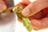 タラの芽としらす干しの卵とじの作り方1