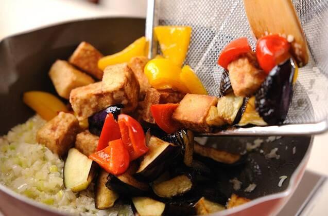 揚げナスと高野豆腐のチリソースの作り方の手順8