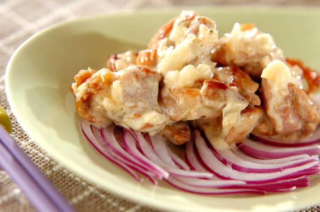 鶏の香味焼き和風マヨ和え