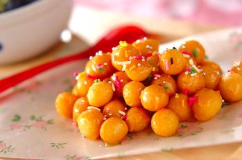 ハチミツ風味のドーナツ