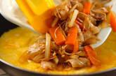 豚バラ肉の卵包み焼きの作り方7