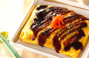 豚バラ肉の卵包み焼き