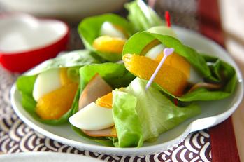 サラダ菜とオレンジのサラダ