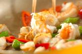 魚介のバジル炒めライスの作り方1