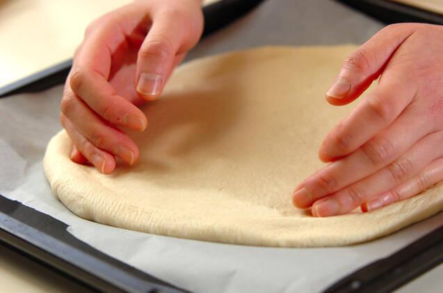 春野菜の和風ピザの作り方の手順11