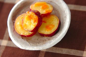 サツマイモのママレード和え