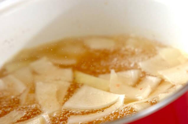 チーズ入りかきたま汁の作り方の手順4