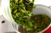 青菜の中華スープの作り方1