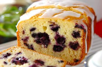ホームベーカリーでブルーベリーのヨーグルトケーキ