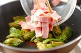フキノトウ炒めの作り方2