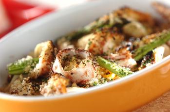 イカと野菜のオーブン焼き